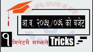 आ.व २०७५/०७६ को बजेट सम्झिने सजिलो शुत्रहरु (Nepal Rastra Bank , नासु, खरिदार शाखा अधिकृत)