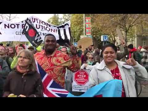 Pacific Island Represent at the Beyond Coal march in Germany!