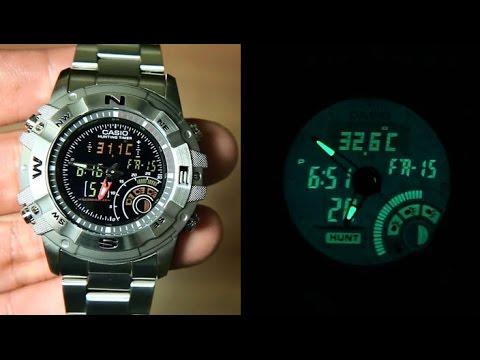 Casio hunting gear AMW-705D-1AV Unboxing - YouTube 7dcea970d3c