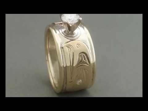 Diamond Rings By  Northwest Native American Artist -  David Neel