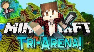 Minecraft: Village Tri-Battle-Arena w/Mitch, Mat, & Preston! Part 1 of 2!