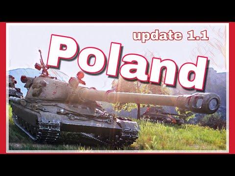 World of Tanks \\  UPDATE 1.1 - Polské tanky  (pohled)