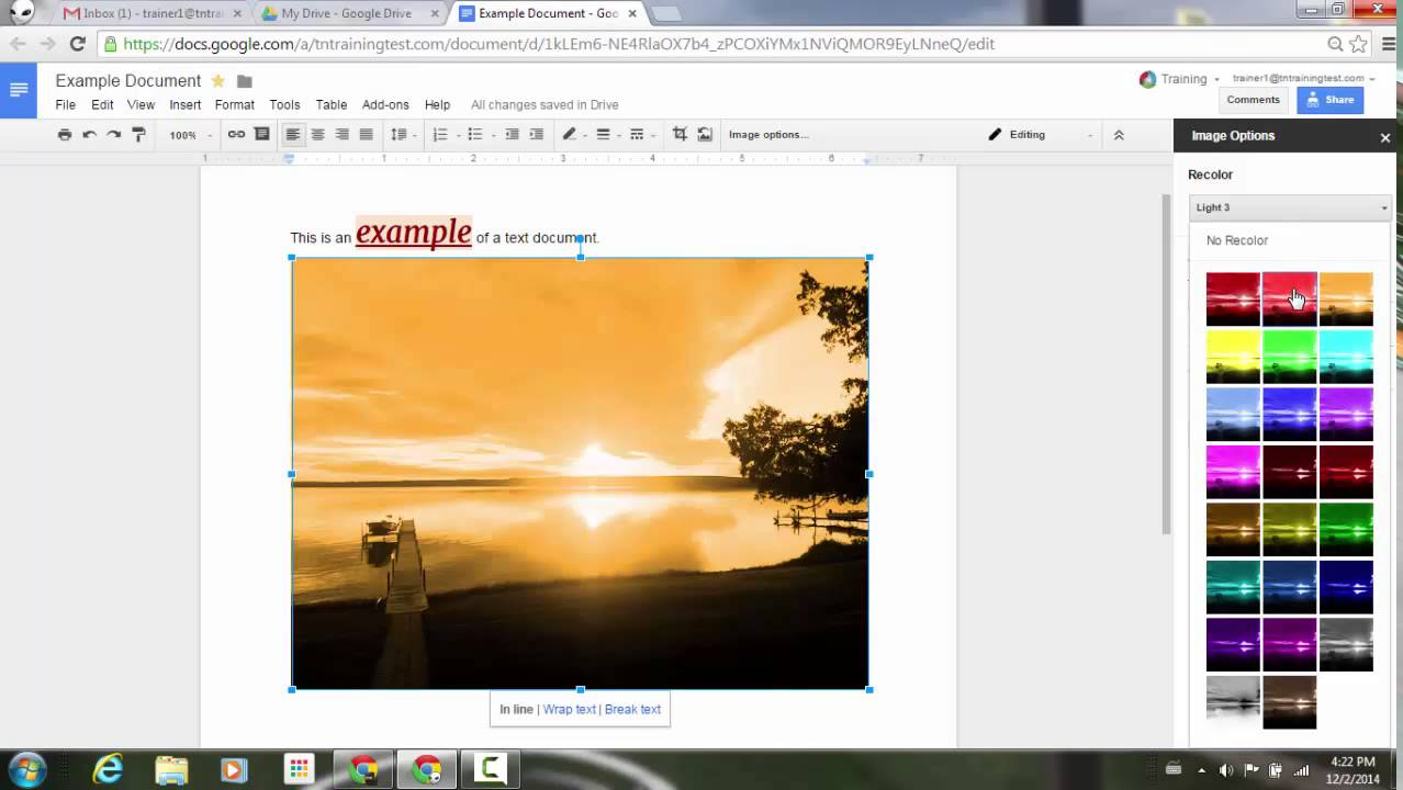 How to color in google docs - Adjust Image Color And Filters In Google Docs