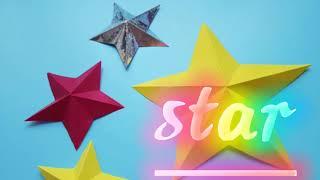 Origami star ☆반짝반짝 빛나는 별접기☆ 크리…