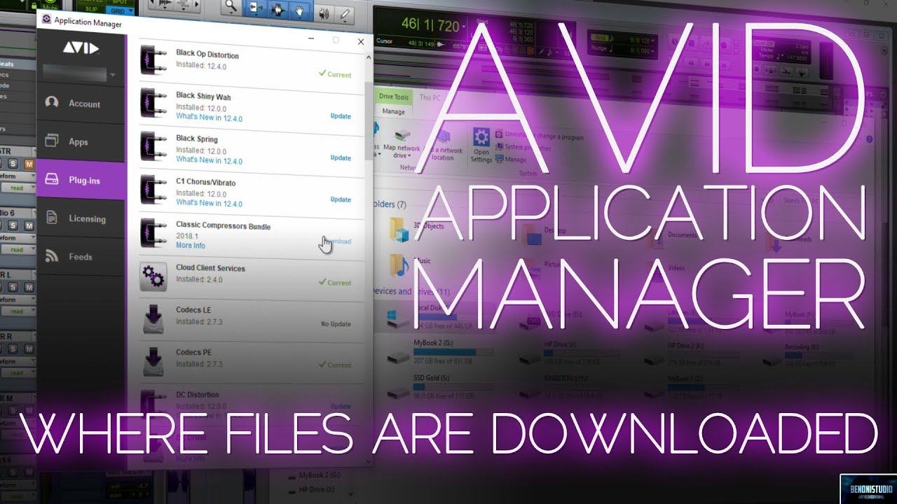 AVID APPLICATION MANAGER | WHERE FILES ARE DOWNLOADED (WINDOWS)