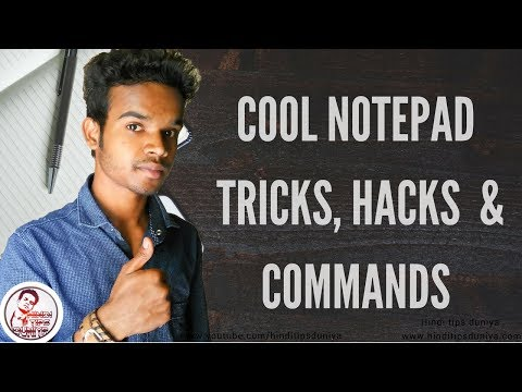 Top 05 cool notepad  tricks, hacks and commands 2017
