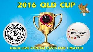 2016 Qld Cup - Men's 8 Ball Team - Gold Coast v Norths 5:30pm