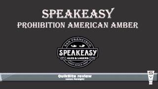 Speakeasy Prohibition American Amber - Quikbite