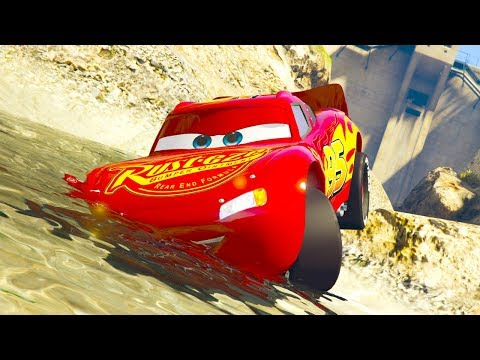 CARS 3 NEXT GEN VS STOCK CARS RAMP JUMP CHALLENGE (Cars 3 Lightning Mcqueen) - 동영상