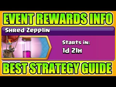 Upcoming SHRED ZEPPLIN Event Rewards Information I Clash Of Clans 2018
