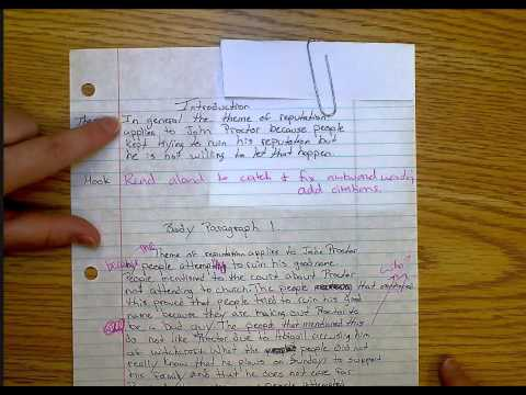 3.  Writing an Introduction:  thesis--Crucible Paper
