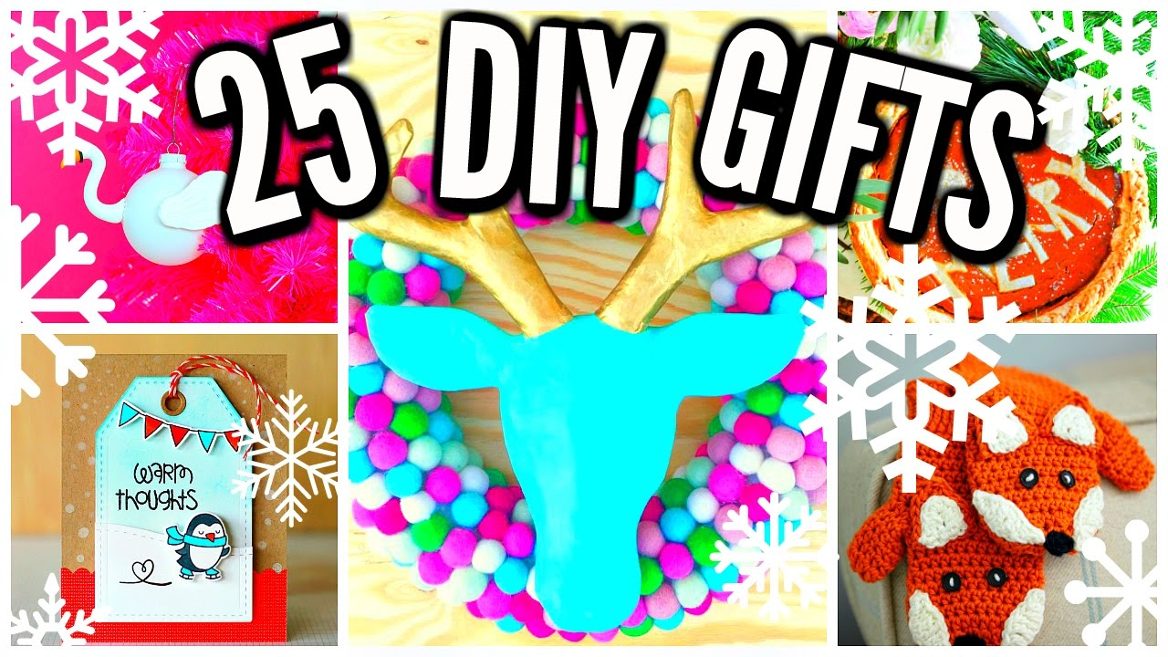 Easy Craft Ideas For Christmas Gifts Part - 37: 25 DIY Christmas Gift Ideas! Cheap U0026 Easy! - YouTube