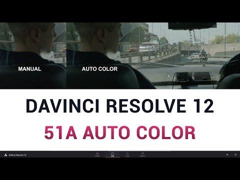 DaVinci Resolve 12 - 51a Auto Color