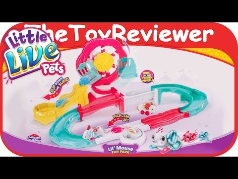 Little Live Pets Lil' Mouse Fun Park Trail Mama And Babies Unboxing Toy Review By TheToyReviewer