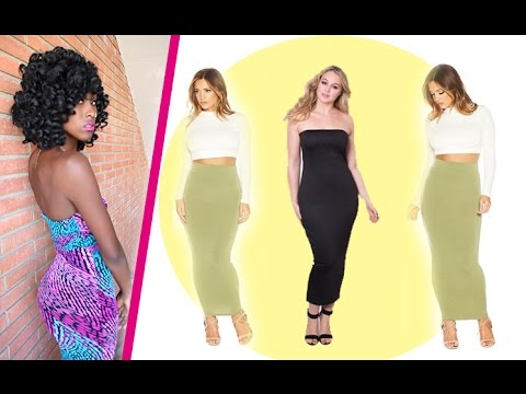 84558b78030 DIY Summer Tube Dress + Skirt - YouTube