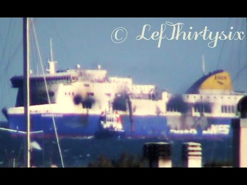 [HD] NORMAN ATLANTIC arrives at the port of Brindisi [Full Video]