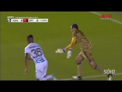 Santos 0 x 1 Sport - Campeonato Brasileiro 2017 (HD)