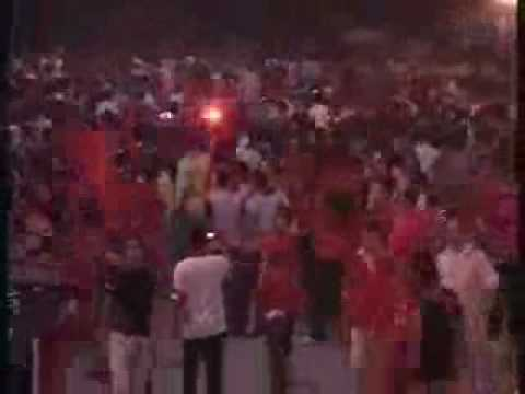 Thumbnail: Albanian fans before the match vs. Greece