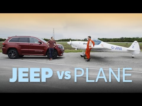 Can A Jeep Beat A Plane On Track?