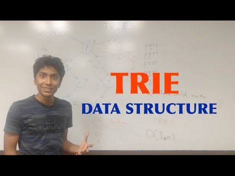 What is the Trie data structure and where do you use it?
