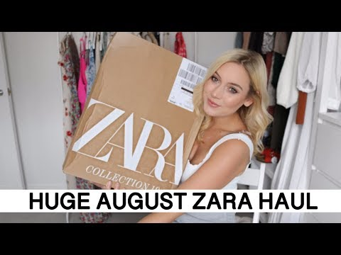 ZARA HAUL UNBOXING AND TRY ON | AUGUST 2019