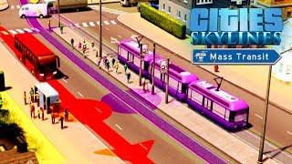 cities Skylines Mass Transit - Профессиональные маршруты! #3