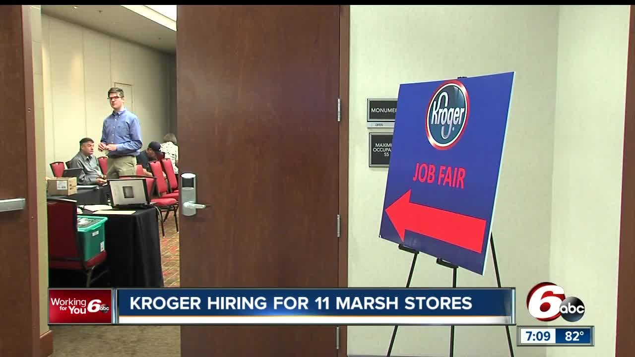 Kroger holding job fairs following Marsh purchases
