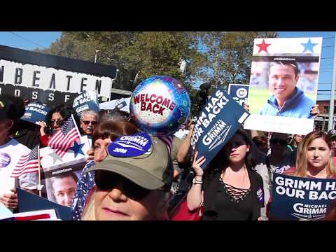 Former Congressman Michael Grimm rally in Staten Island NY