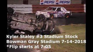 Kyler Staley #3 Stadium Stock Bowman Gray Stadium 7-14-2018