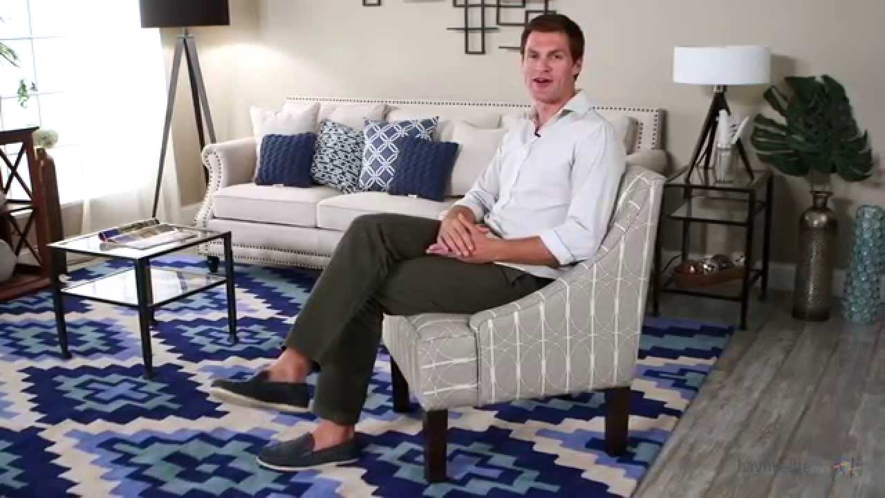 Skyline Swoop Arm Chair   Menton Linen   Product Review Video