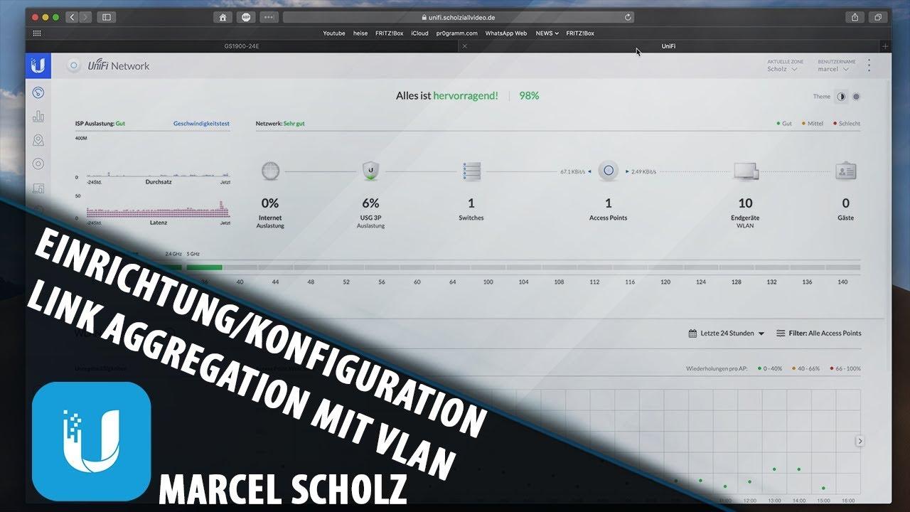 Setup / Configuration Link Aggregation with VLAN on UniFi Switch | Marcel  Scholz