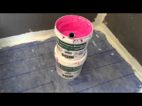 Ccure Pro Red Waterproofing A Shower