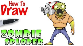 How to Draw Sploder Zombie | Fortnite