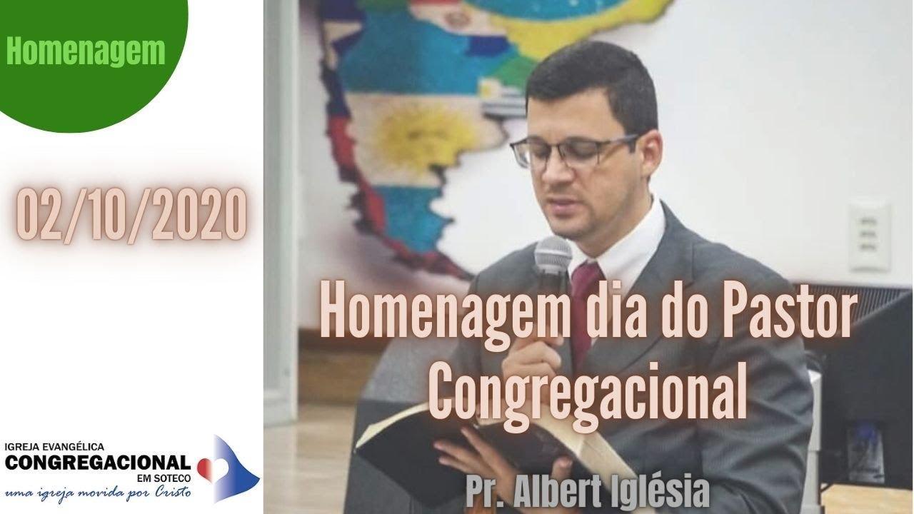 Homenagem dia do Pastor - 02/10/2020 - IEC Soteco