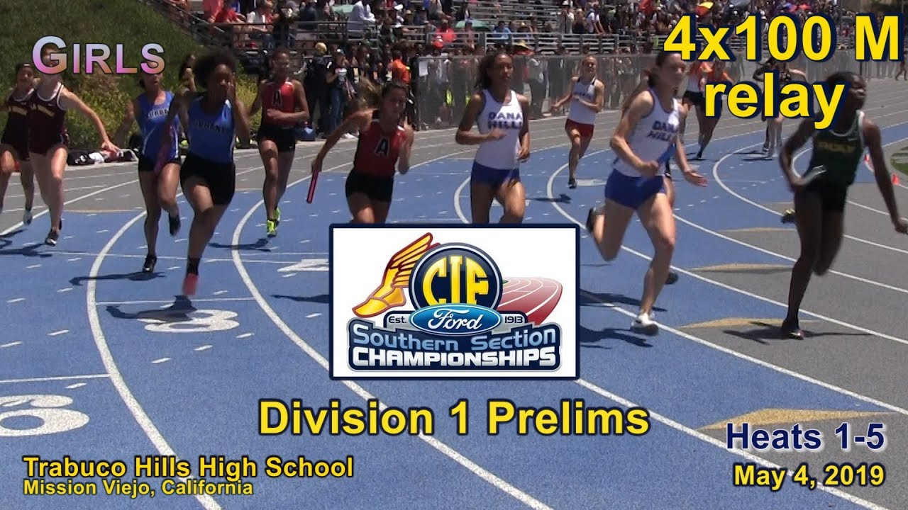 2019 TF - CIF-ss Prelims (D1) - 4x100 (Girls, All Heats)