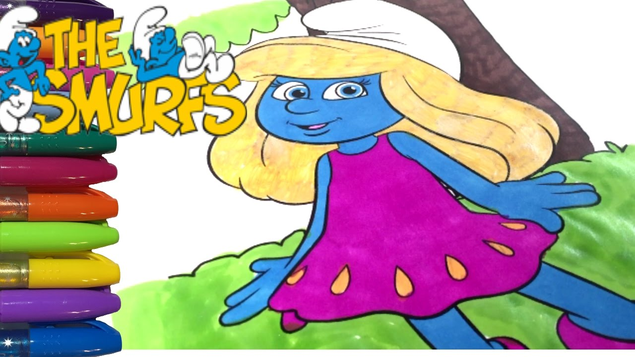 smurfs coloring pages smurfette youtube