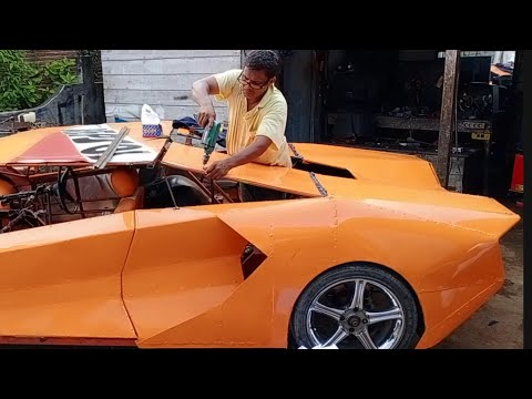 The process of making a lamborghini replica from zero to lambo by a farmer from Aceh