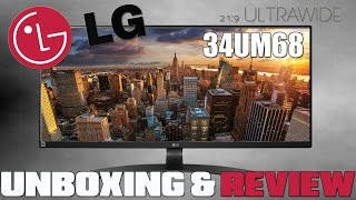 """LG 34UM68 34"""" 21:9 Ultrawide Monitor Unboxing & Review"""