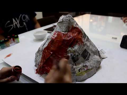 How to Make Miniature Volcano Model