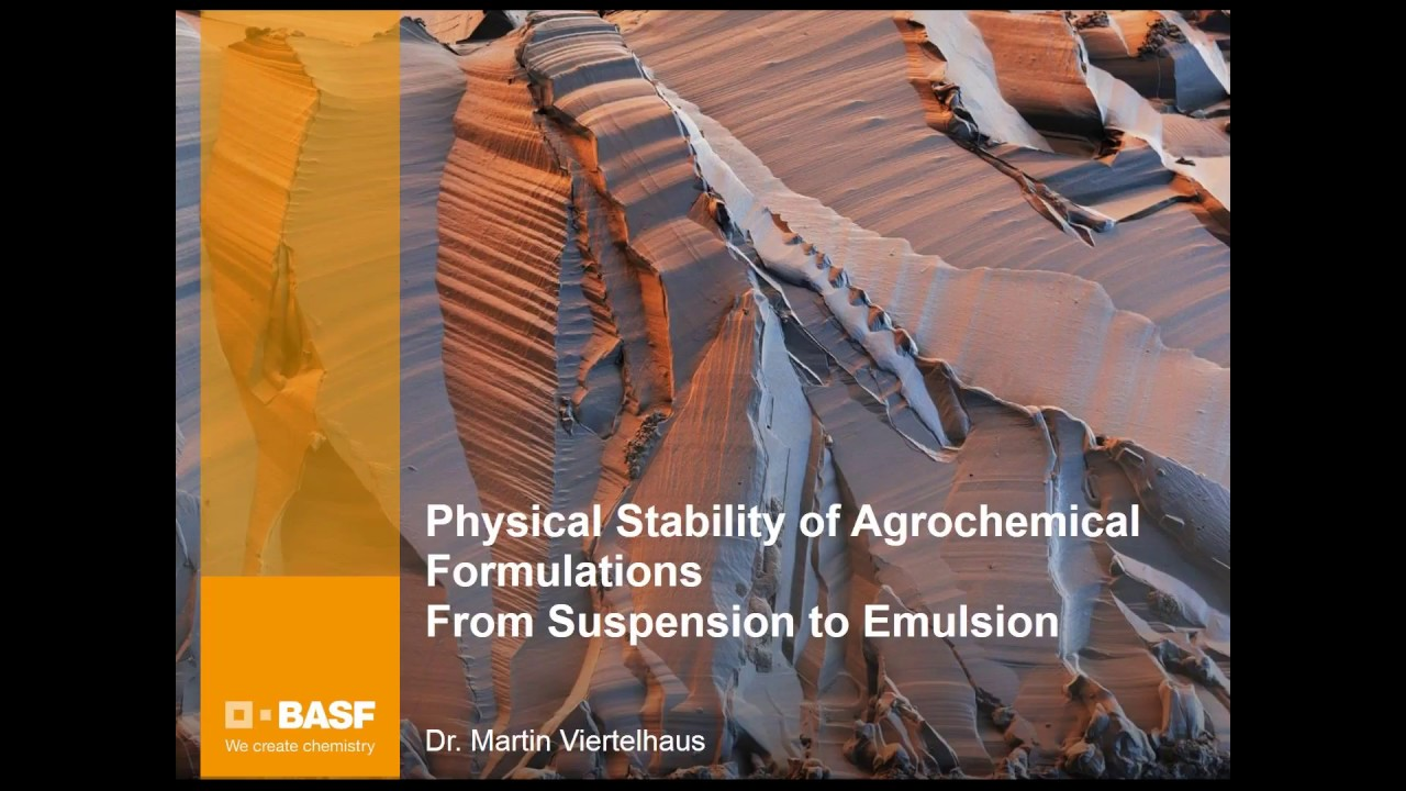 Physical Stability of Agrochemical Formulations - Crystallization