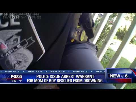Police issue arrest warrant for mom of boy rescued from pool