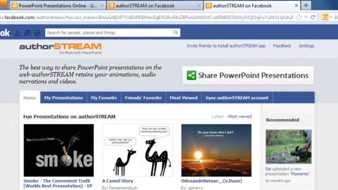 Upload powerpoint presentation