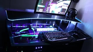Ultimate Gaming Pc Watercooled Custom Desk
