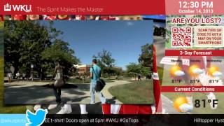 EYECONIC.TV - Digital Signage Demo for Education - WKU Western Kentucky University