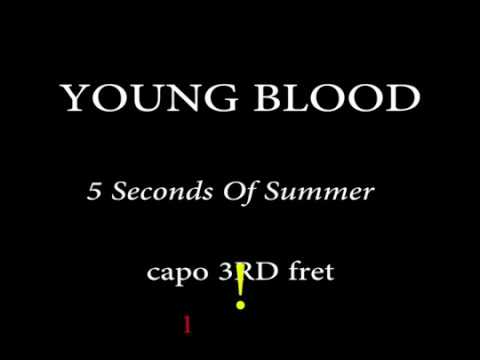 YOUNG BLOOD 5 Seconds Of Summer Easy Chords and Lyrics (3rd Fret)