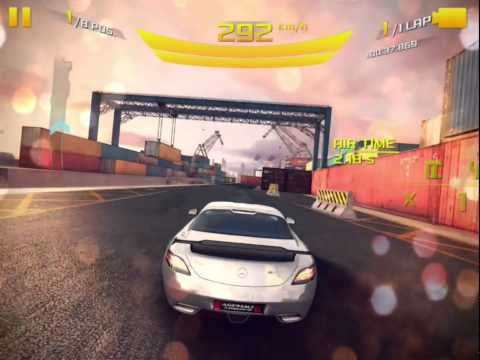 Asphalt 8: Airborne Mercedes-Benz SLS AMG GT Coupe Final Edition CUP | San Diego Harbor