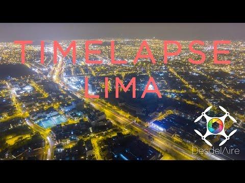 Lima de Noche con Drone | Timelapse 4K