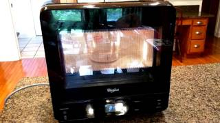 Whirlpool WMC20005YW 0.5 Cu. Ft. Black Countertop Microwave - 5 star rating!