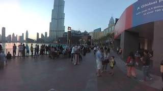 360 Video walking to Burj Khalifa Dubai Mall
