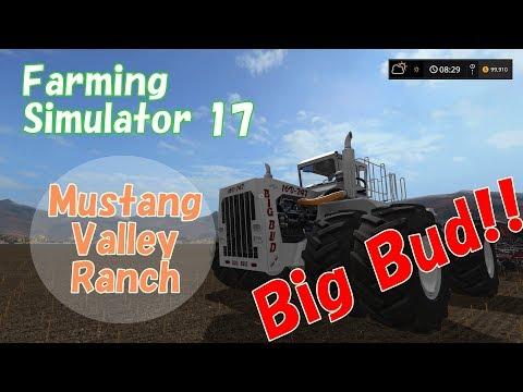 Farming Simulator 17 (PS4) Mustang Valley Ranch Ep.4 世界最大のトラクター、Big Budで大興奮!!の巻